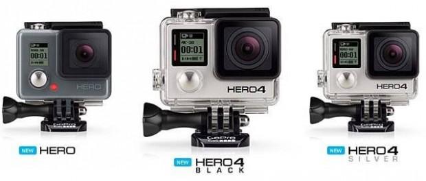 GoPro´s neue Modelle - GoPro HERO4 Black, GoPro HERO4 Silver und GoPro HERO 2014