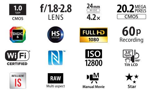 Canon PowerShot G7 X Eigenschaften