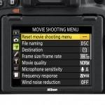 Filmaufnahme-Menü an der Nikon D750