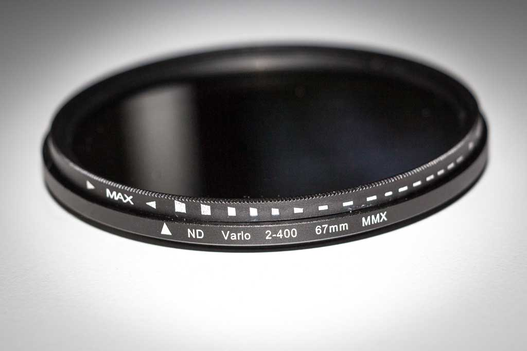 ND-Filter Fader von XCSOURCE ND2 - ND400 stufenlos verstellbar.